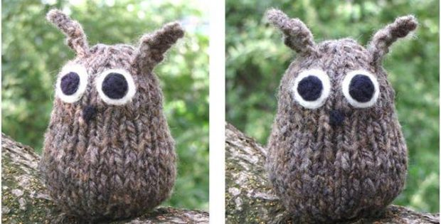 Fun Knitted Simple Little Owl Free Knitting Pattern