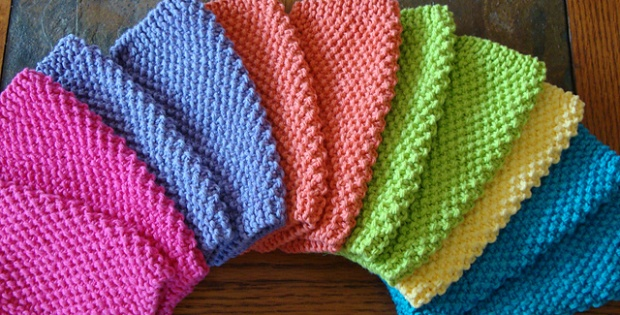 Knit Simple Seed Stitch Dishcloths Free Pattern