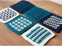simple slip stitch knitted coasters | the knitting space