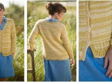 simple v-neck knitted cardigan | the knitting space
