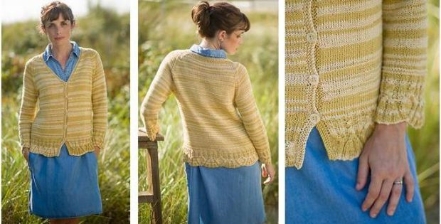 f385cf6ff803 Simple V-Neck Knitted Cardigan  FREE Knitting Pattern