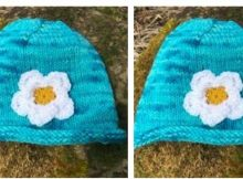 simple yorkshire rose knitted hat | the knitting space