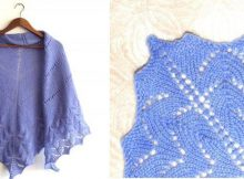 simplicity knitted triangle shawl | the knitting space