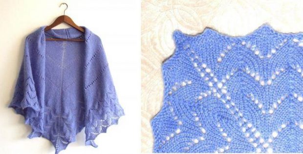 Simplicity Knitted Triangle Shawl [FREE Knitting Pattern]