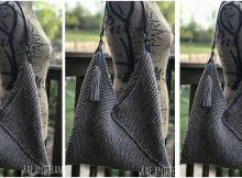 simply chic knitted Japanese tote | the knitting space