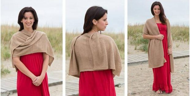 simply lovely knitted wrap | the knitting space