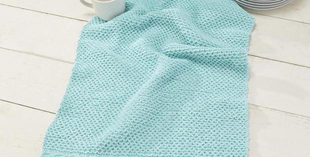Knit Slip Stitch Dish Towel Free Pattern