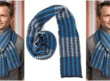 slipped stripes knitted scarf | the knitting space