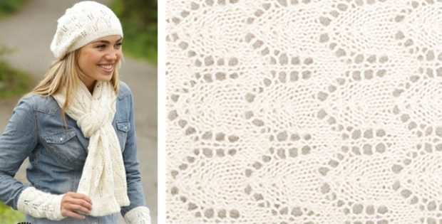 Snow Angel Knitted Hat And Scarf Free Knitting Pattern