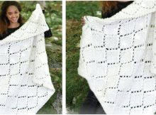 snow diamonds knitted blanket   the knitting space
