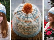snowflake knitted ribbed hat | the knitting space