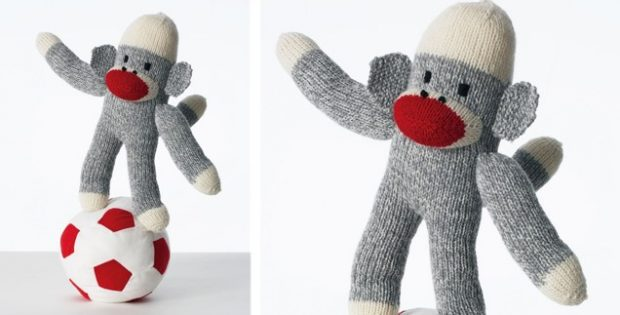 Sweet Knitted Sock Monkey Free Knitting Pattern