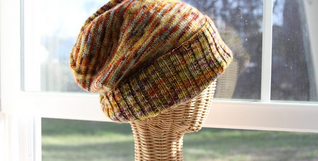 Knitted Sockhead Slouch Hat Free Knitting Pattern