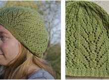 soft linen knitted lace beret | the knitting space