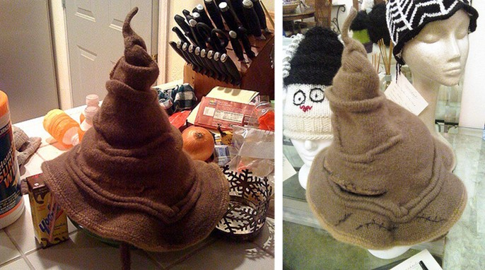Harry Potter Knitted Sorting Hat Free Knitting Pattern