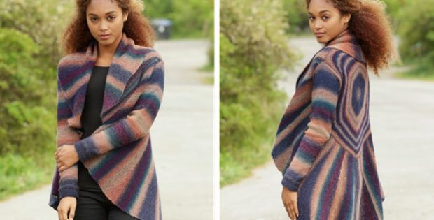 Spectre knitted striped jacket | the knitting space