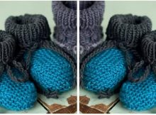 spiffy knitted baby bootees | the knitting space