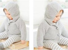 spiffy knitted hooded jacket | the knitting space