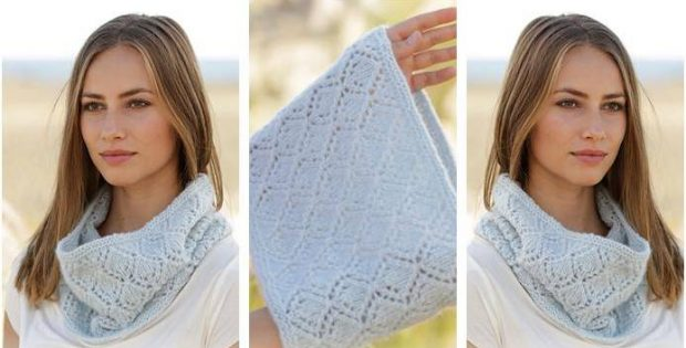 Spring Bound Knitted Neck Warmer Free Knitting Pattern