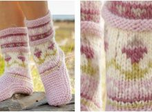 spring dance knitted slippers | the knitting space