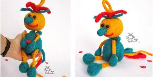 Spring Fairy Bird Knitted Toy Free Knitting Pattern