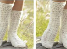 spring snow knitted lace socks | the knitting space