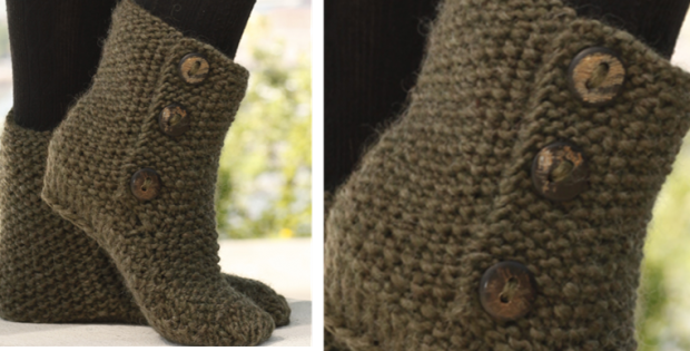 St Louis Boots Knitted Slippers Free Knitting Pattern