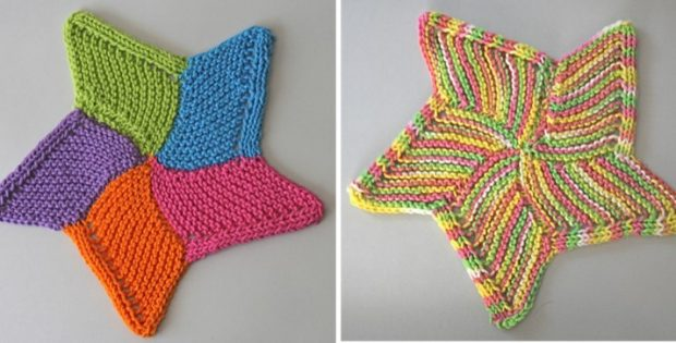 starfish knitted wash cloth | the knitting space