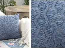 stay warm knitted lace pillow | the knitting space