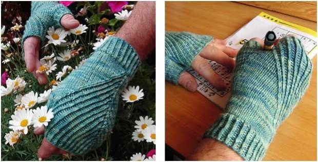 Straightforward Knitted Fingerless Mitts [FREE Knitting Pattern]