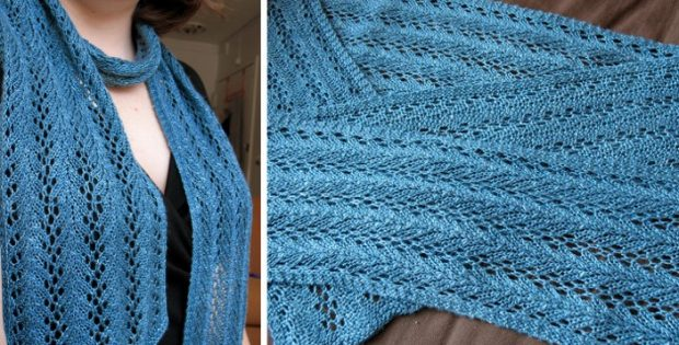 Knitted Strangling Vine Lace Scarf Free Knitting Pattern