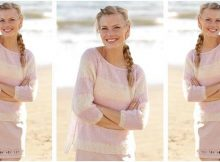 strawberry vanilla knitted sweater | the knitting space