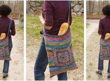 striped knitted summer bag | the knitting space