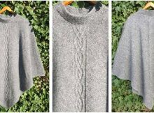 stunning Liliane knitted poncho | the knitting space
