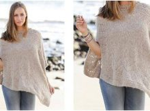 stunning knitted lace poncho | the knitting space