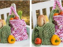 stunning knitted market tote bag | the knitting space