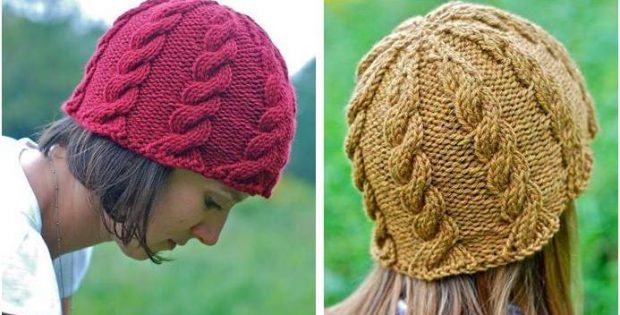 Stunning Ripple Cable Knitted Hat Free Knitting Pattern