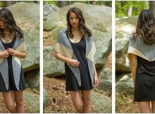 stunning two-color knitted wrap | the knitting space