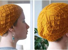 stylish knitted diamond cap | the knitting space