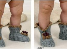stylish knitted baby booties | the knitting space