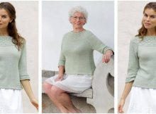 summer evening knitted sweater | the knitting space