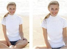 summer foam knitted top | the knitting space