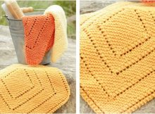 summer squares knitted washcloths | the knitting space