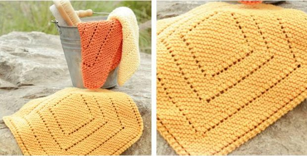 Summer Squares Knitted Washcloths Free Knitting Pattern
