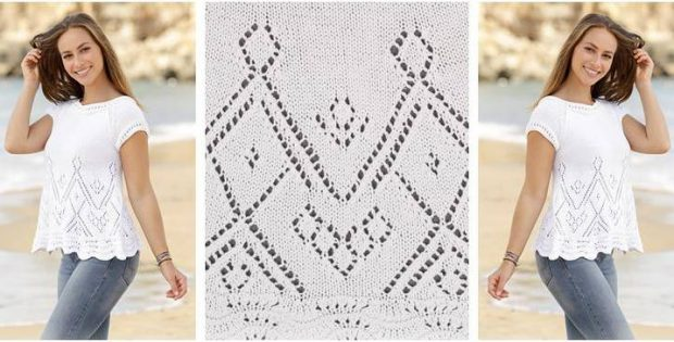 Summer Swing Knitted Top Free Knitting Pattern