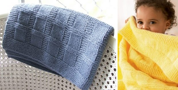 Sunny Knitted Baby Blanket Free Knitting Pattern