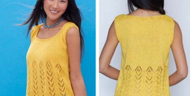 Knit Sunny Days Tank Free Knitting Pattern