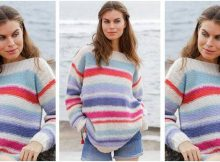 sunset knitted striped sweater | the knitting space