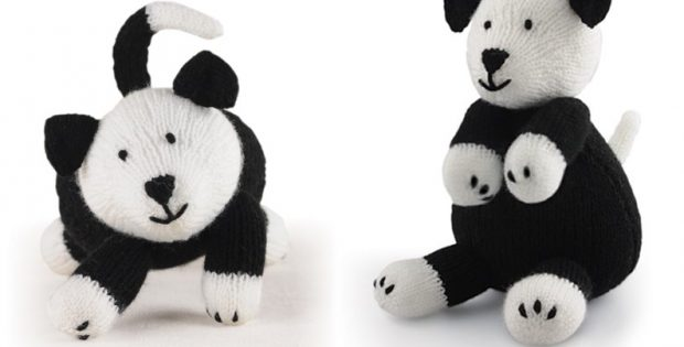 super cute knitted sheepdog | the knitting space