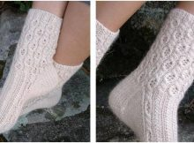 sweet cabled lace knitted socks | the knitting space